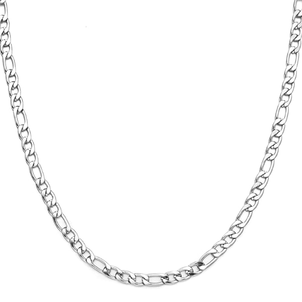 Classy Men 6mm Silver Figaro Chain Necklace