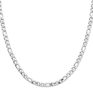 Classy Men 7mm Silver Figaro Chain Necklace
