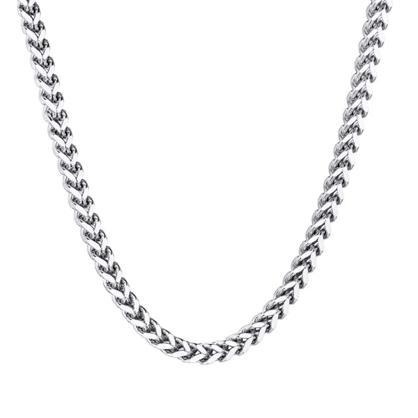 Classy Men 3mm Silver Franco Chain Necklace