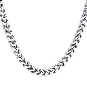 Classy Men 8mm Silver Franco Chain Necklace