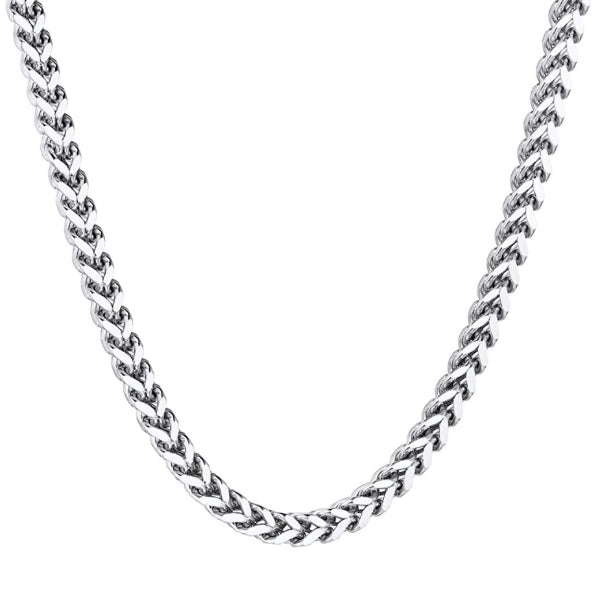 Classy Men 4mm Silver Franco Chain Necklace