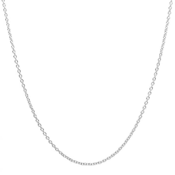 Classy Men 2.4mm Silver Rolo Chain Necklace