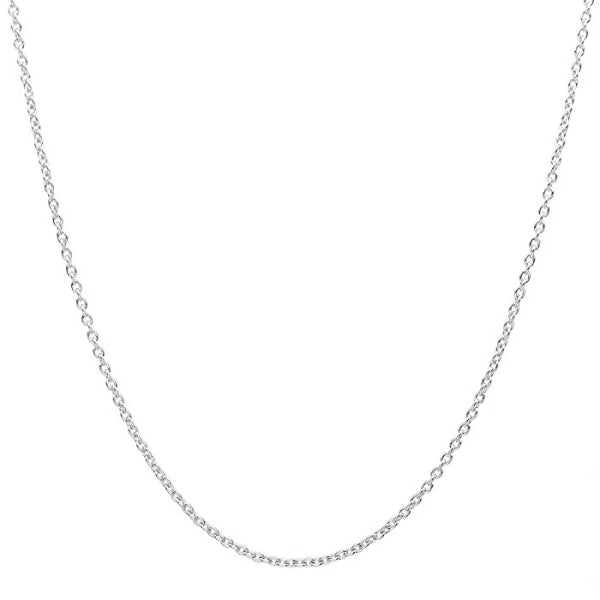 Classy Men 1.6mm Silver Rolo Chain Necklace