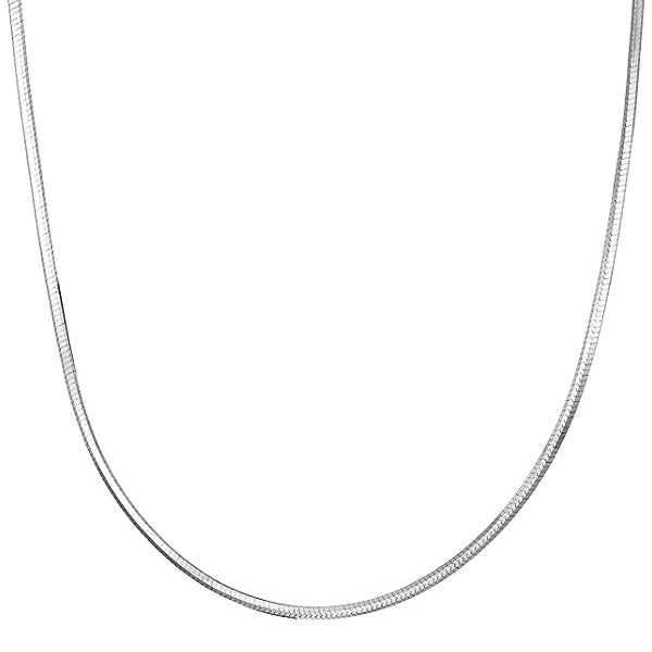 Classy Men 3mm Silver Snake Chain Necklace