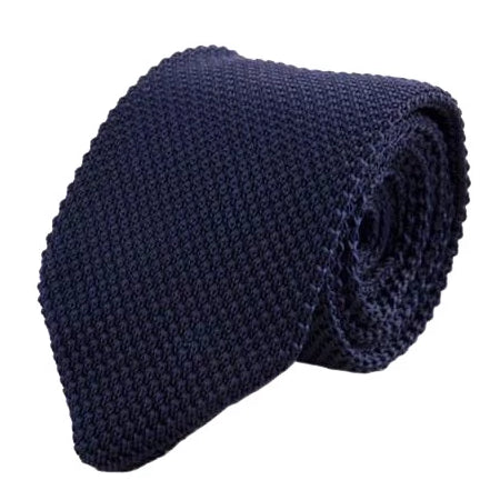 Classy Men Knitted Tie Navy - Classy Men Collection
