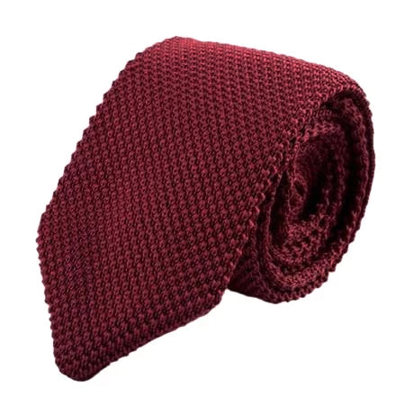 Classy Men Knitted Tie Wine - Classy Men Collection