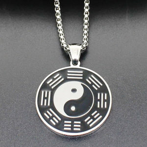 display of the eight Bagua trigrams on the yin yang necklace