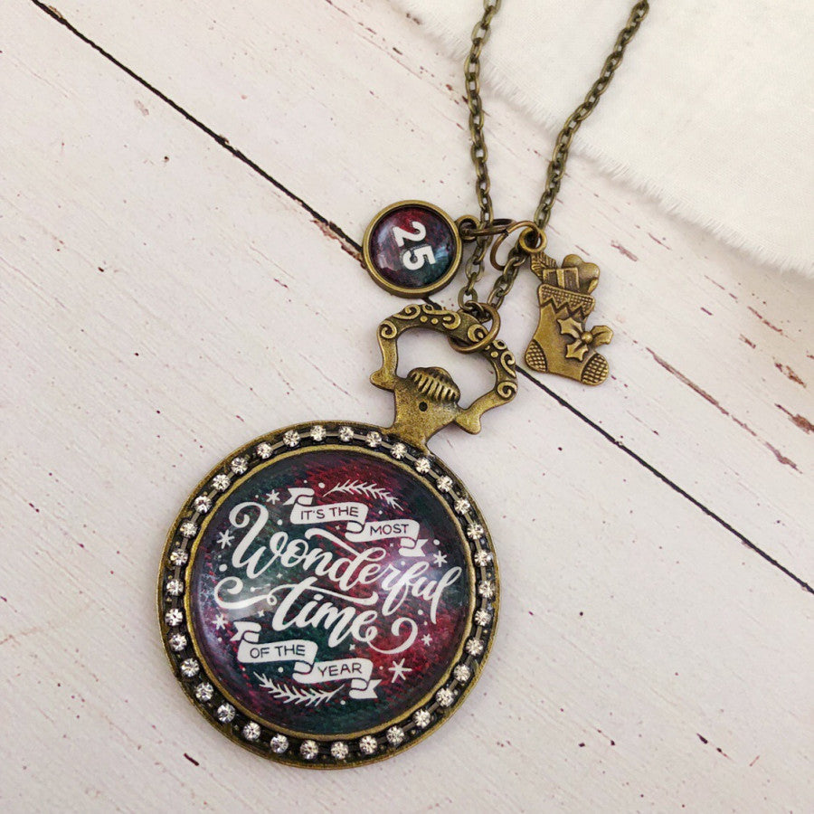 Most Wonderful Time of the Year Christmas Necklace