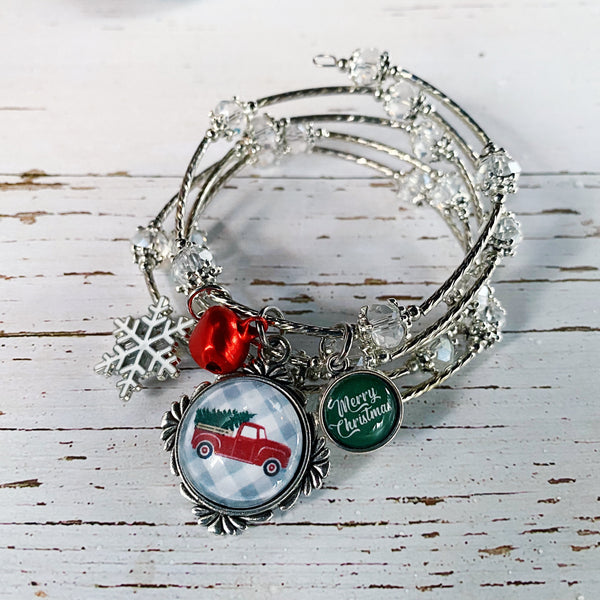 Christmas Tree Truck Wrap Bracelet