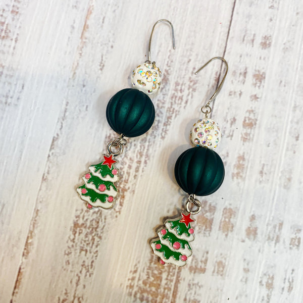 Festive Ball Statement Tree Earrings