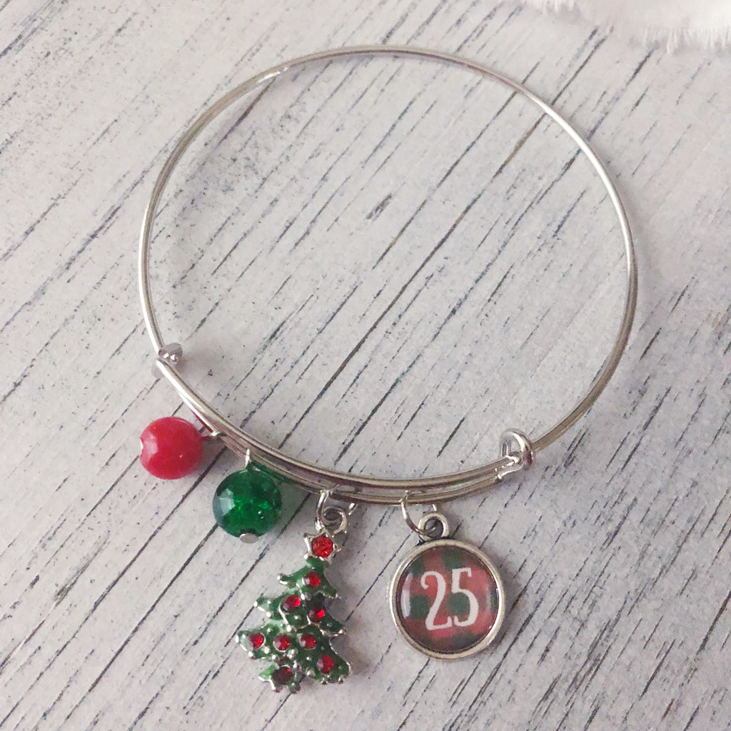 Christmas tree bangle bracelet