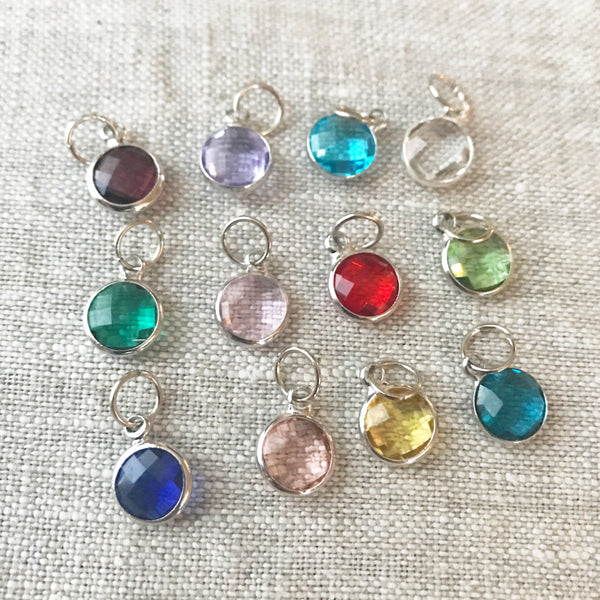 Faceted Birthstone Charm
