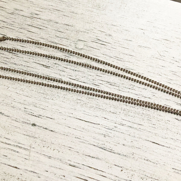 Petite ball chain antique silver tone- chain only