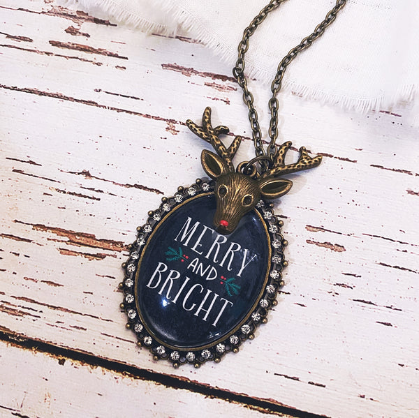 Merry and Bright Christmas Necklace