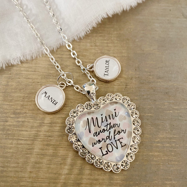 Custom another word for LOVE necklace