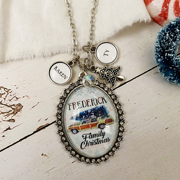 Griswold Family or Custom Name Christmas Necklace