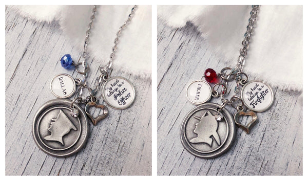 My heart belongs to- Firefighter or Police Officer necklace
