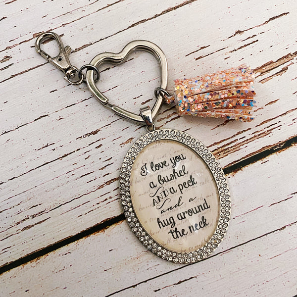 I love you a bushel and a peck and a hug around the neck keychain