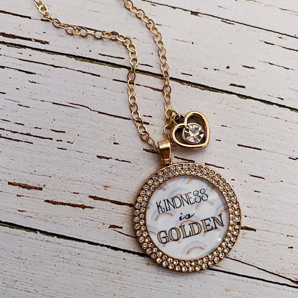 Kindness is Golden Necklace