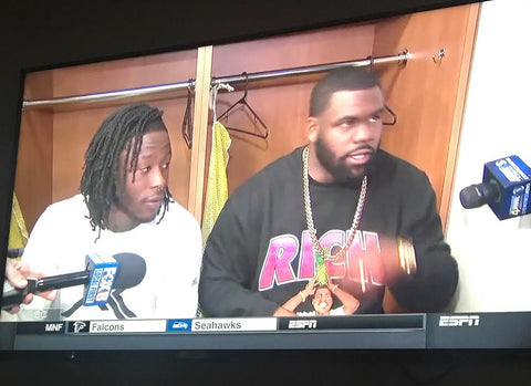 Mark Ingram of the NEW ORLEANS Saints wears RS on ESPN.