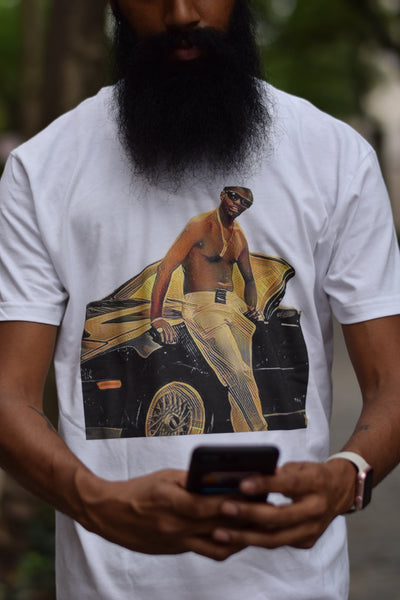 LIMITED EDITION WHITE BBS RICH PORTER T-Shirt -FREE SHIPPING