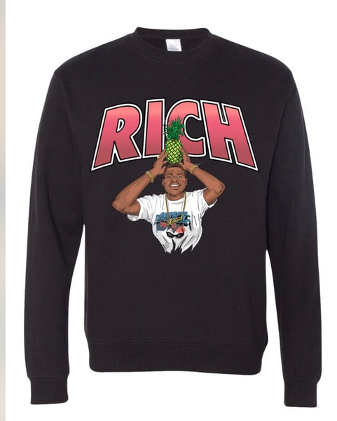 Rich Porter Pineapple Crew Neck Sweatshirt