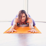Orange yoga mat