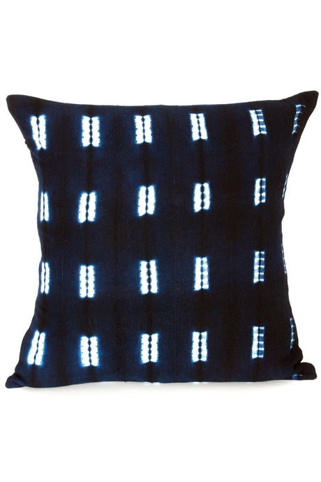 Malian Decorative Indigo Pillow