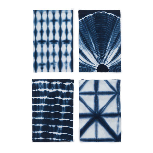 Shibori Napkins - Set of 4 Indigo
