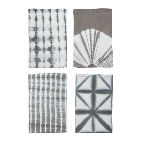 Shibori Napkins - Set of 4 Taupe