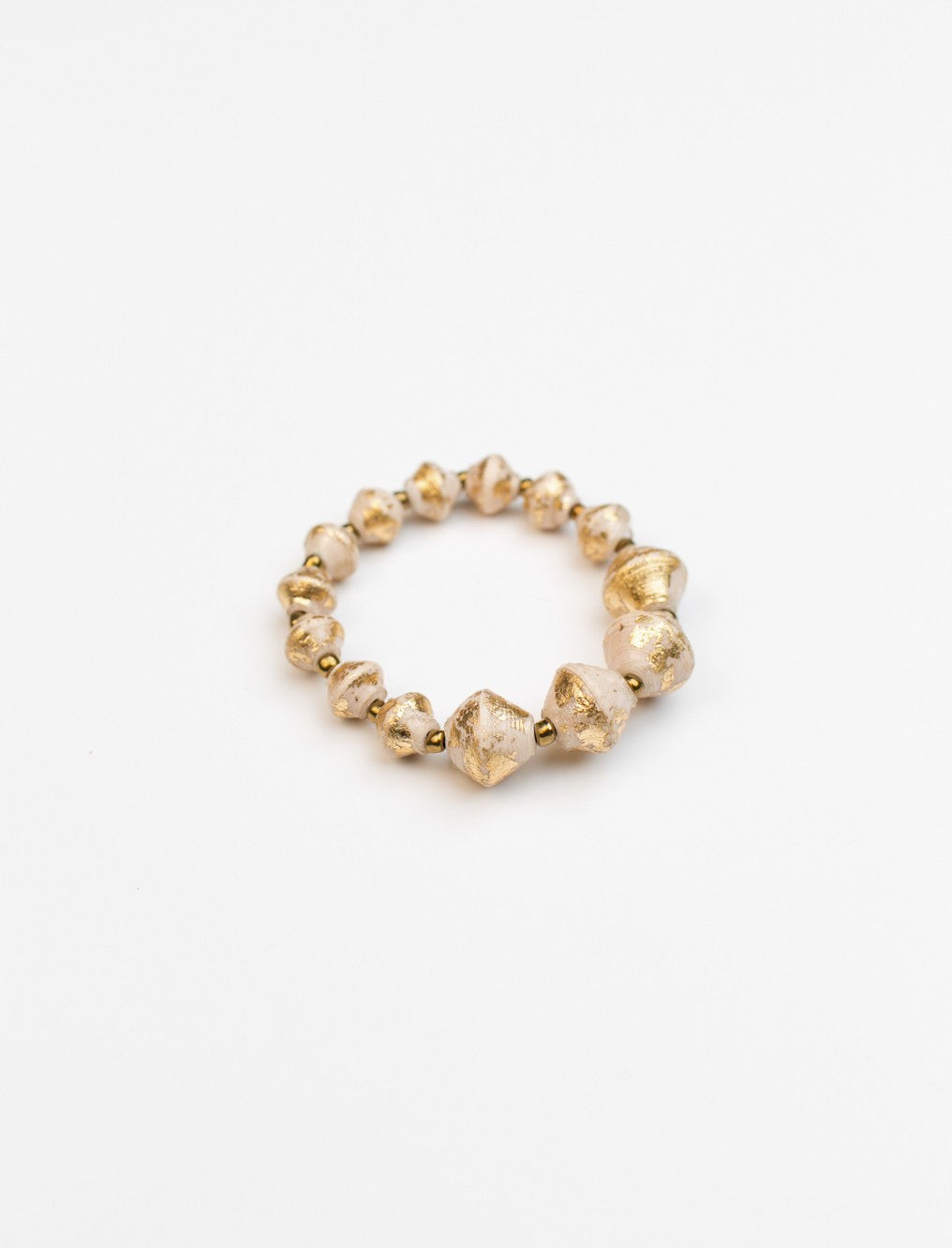 The Collector Bracelet - Cream Gold