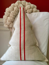Vintage Red Grain Christmas Tree Pillow