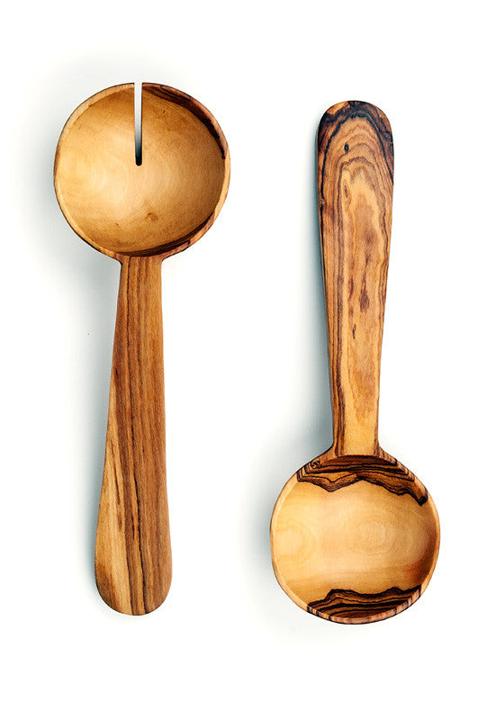 Wild Olive Wood Pendulum Salad Servers