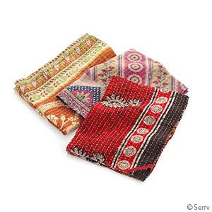 Kantha Dish Towels - Set of 3 Multi-Color