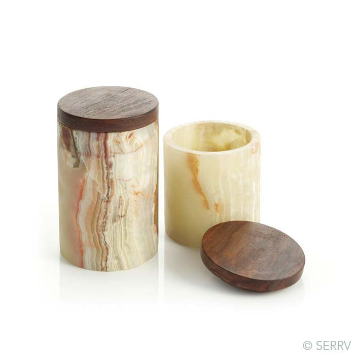 Onyx Canisters - Set of 2