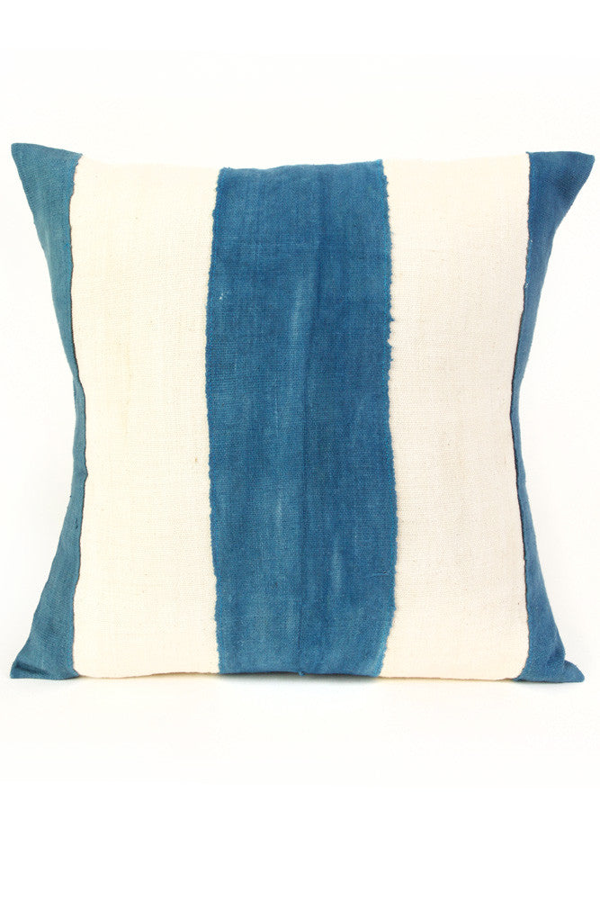 Mali Faded Blue & Natural Pillow