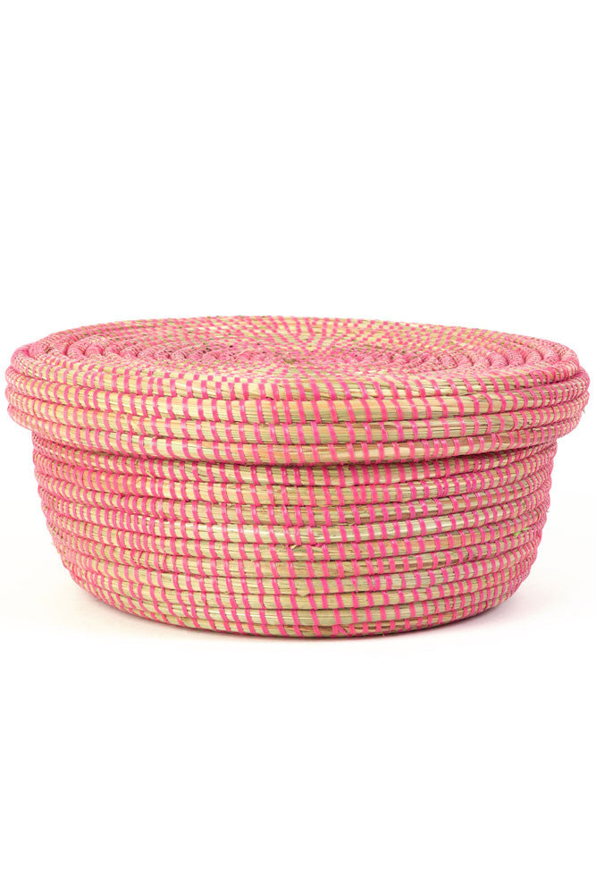 Pink Lidded Storage Box Basket