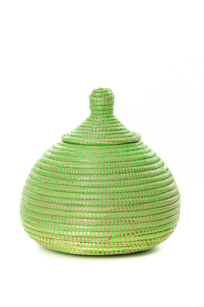 Lime Green Lidded Kiss Basket