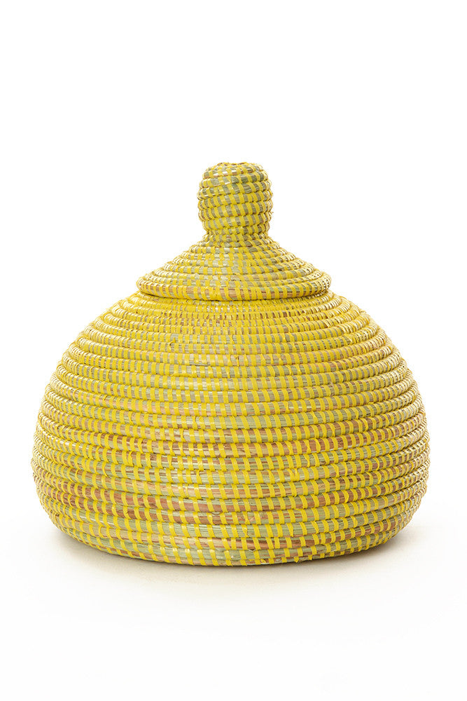 Yellow Lidded Kiss Basket