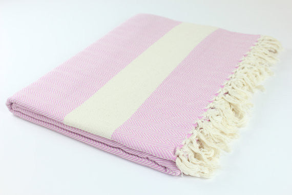 Oversized Turkish Blanket - Pink Lilac