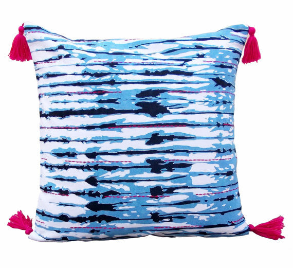Shibori Stripe Pillow Cover