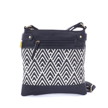 Square Satchel - Black A Line
