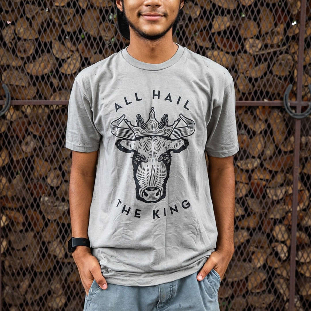 Lewis BBQ All Hail The King T-Shirt Front