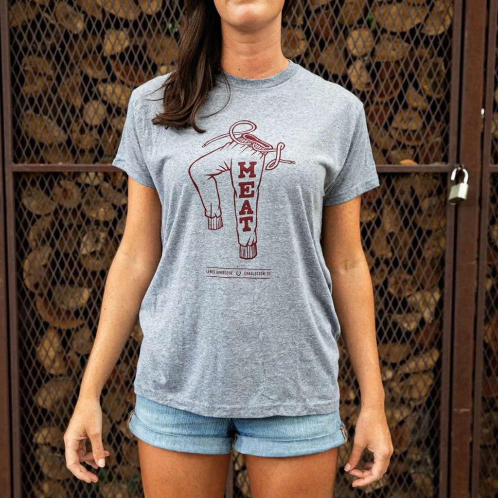Lewis BBQ Meat Sweats T-Shirt Front