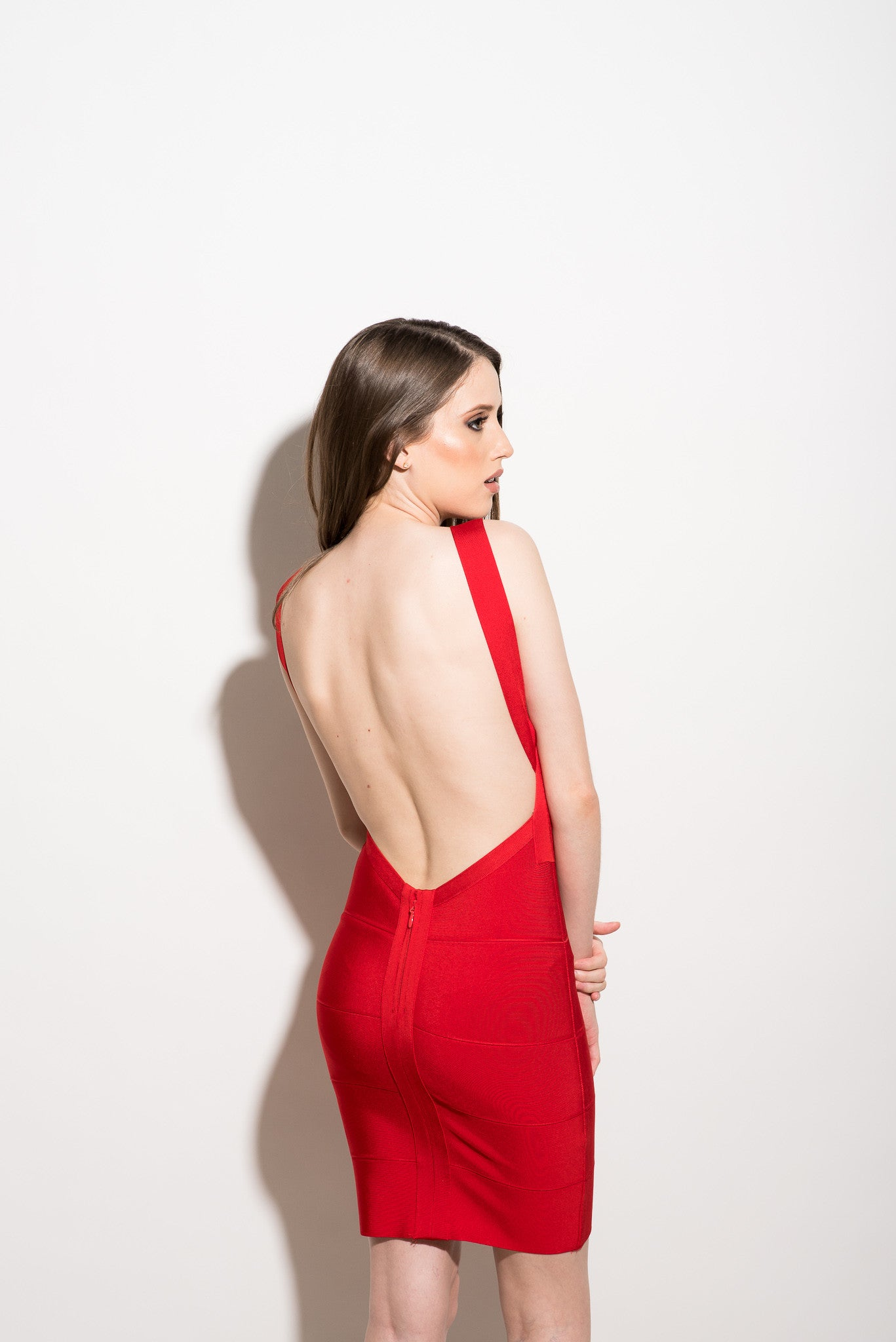 691f9180bcca Red backless bodycon dress - IKL Boutique