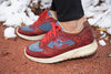 Women's Red Suede Sneakers 5028