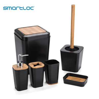 Set of 6 smartloc Plastic Bathroom Accessories(Free Delivery)