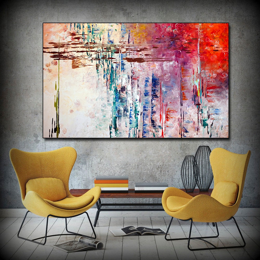Abstract Painting on Canvas (Fee Delivery)