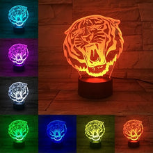 Tiger Series 3D Animal Nightlight Abstract Acrylic Lamp (Free Delivery)
