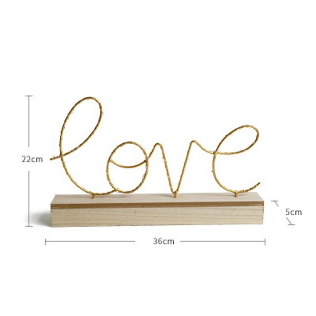 Home Decorative Figurines Ornaments/ LED Lamp Light LOVE Letters